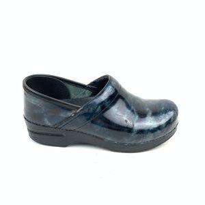 Dansko clogs black marbled nurse comfort shoes 38